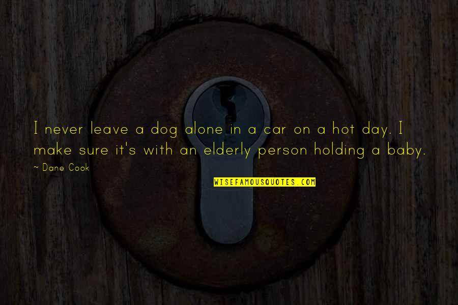 Baby's Day Out Quotes By Dane Cook: I never leave a dog alone in a