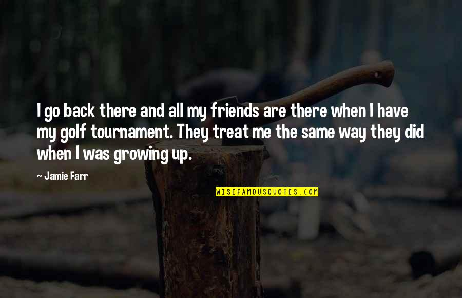 Back Friends Quotes By Jamie Farr: I go back there and all my friends