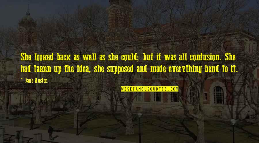 Back It Up Quotes By Jane Austen: She looked back as well as she could;