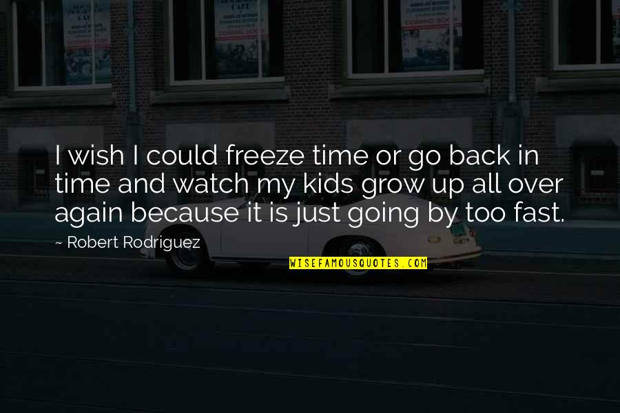 Back It Up Quotes By Robert Rodriguez: I wish I could freeze time or go