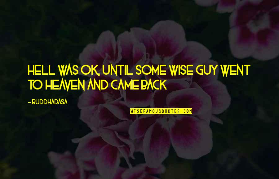 Back To Hell Quotes By Buddhadasa: Hell was OK, until some wise guy went