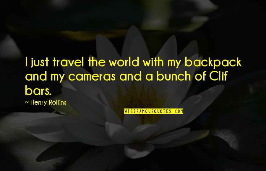 Backpack Quotes By Henry Rollins: I just travel the world with my backpack