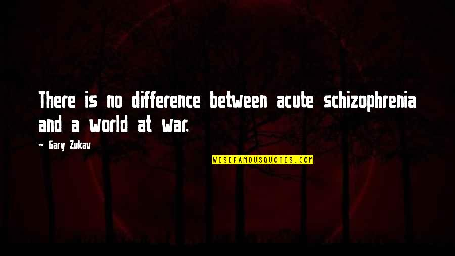Backpacking Europe Quotes By Gary Zukav: There is no difference between acute schizophrenia and