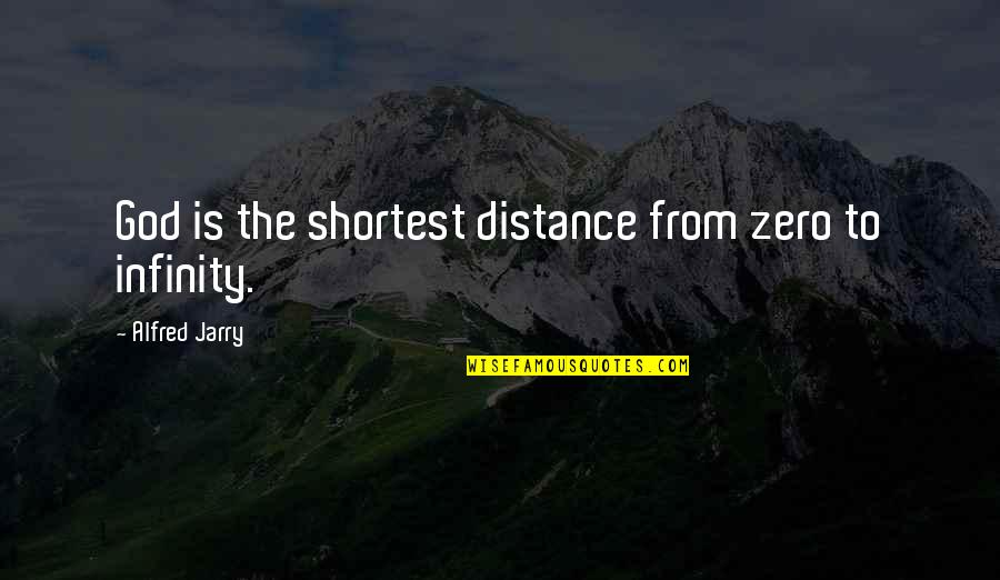Bad Days Get Better Quotes By Alfred Jarry: God is the shortest distance from zero to