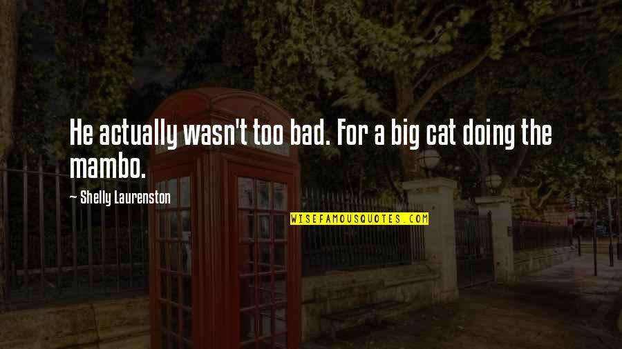 Bad Doing Quotes By Shelly Laurenston: He actually wasn't too bad. For a big