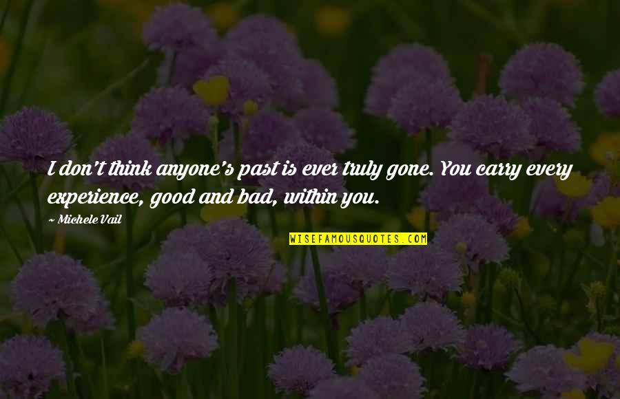 Bad Experience Quotes By Michele Vail: I don't think anyone's past is ever truly