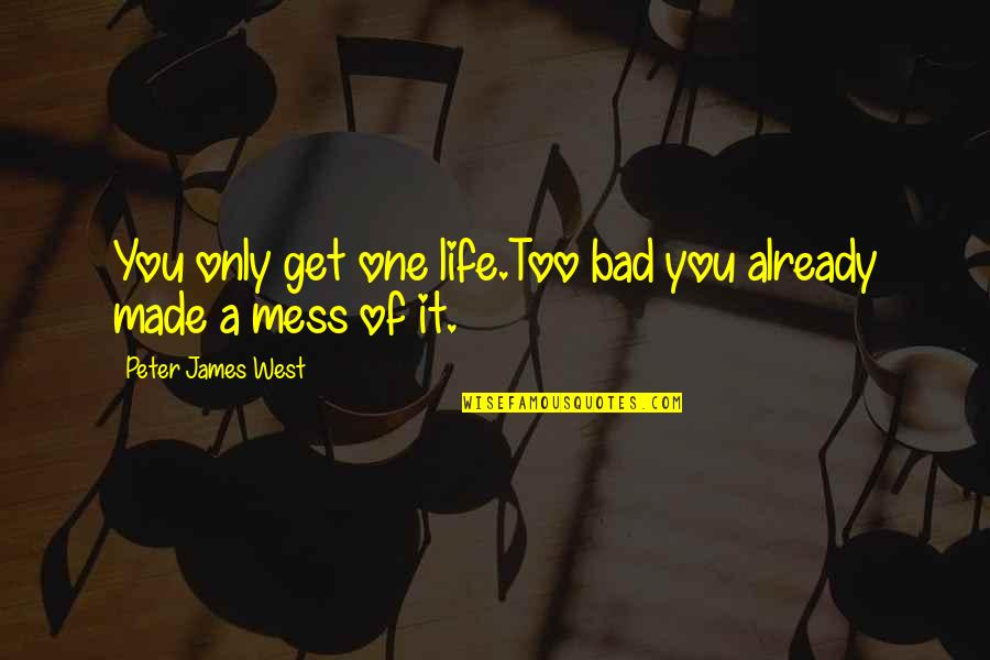Bad Humor Quotes By Peter James West: You only get one life.Too bad you already