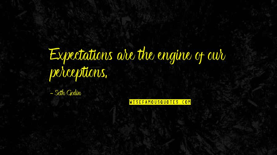 Bad Lieutenant Quotes By Seth Godin: Expectations are the engine of our perceptions.