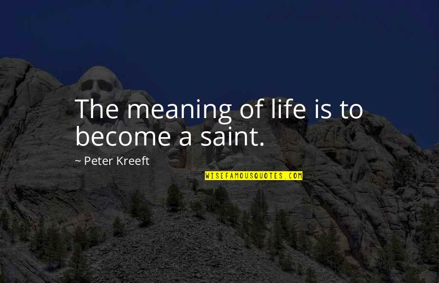 Bad Typing Quotes By Peter Kreeft: The meaning of life is to become a