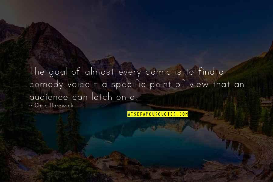 Bad Valentines Day Quotes By Chris Hardwick: The goal of almost every comic is to