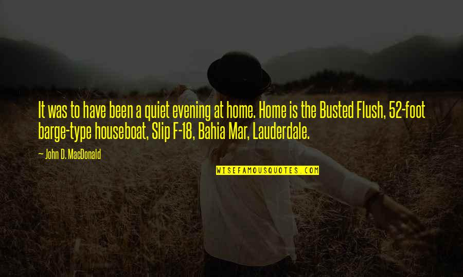 Bahia Quotes By John D. MacDonald: It was to have been a quiet evening