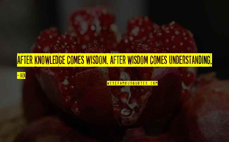 Baitoa Quotes By RZA: After knowledge comes wisdom. After wisdom comes understanding.