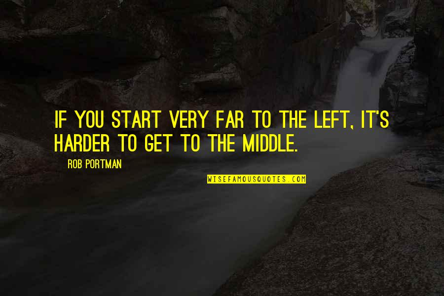 Balance In Friendship Quotes By Rob Portman: If you start very far to the left,