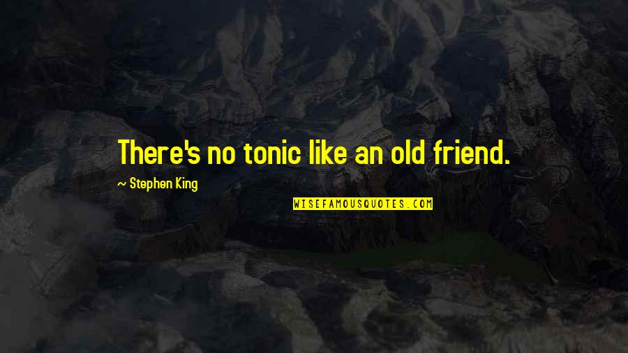 Balbec Quotes By Stephen King: There's no tonic like an old friend.