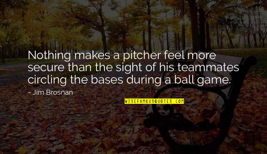 Ball Games Quotes By Jim Brosnan: Nothing makes a pitcher feel more secure than
