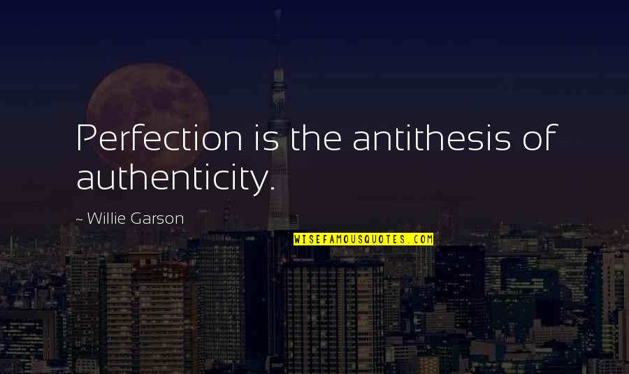 Balloons And Letting Go Quotes By Willie Garson: Perfection is the antithesis of authenticity.