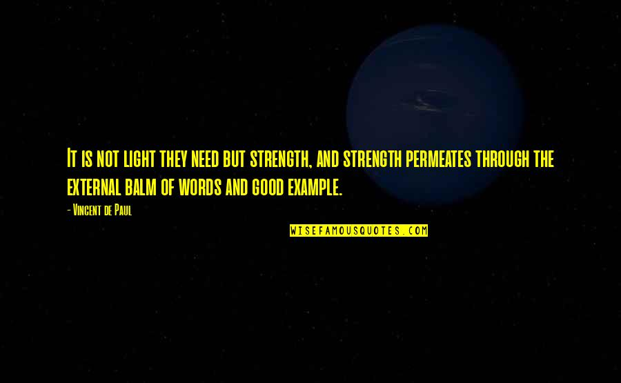 Balm Quotes By Vincent De Paul: It is not light they need but strength,