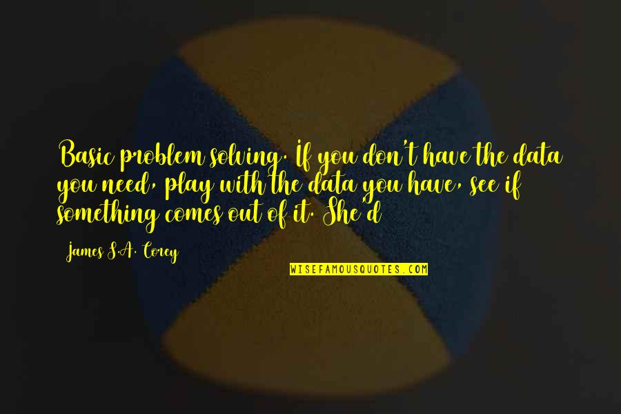 Baloon Quotes By James S.A. Corey: Basic problem solving. If you don't have the
