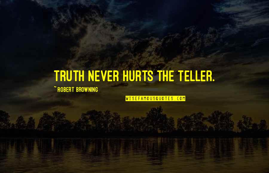 Bank Of Montreal Quotes By Robert Browning: Truth never hurts the teller.
