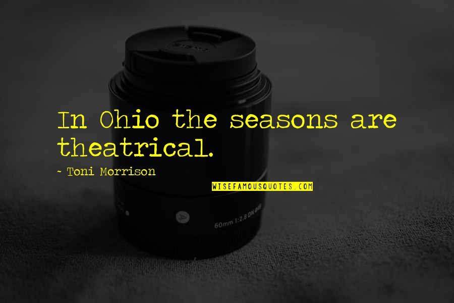 Barbecue Quotes And Quotes By Toni Morrison: In Ohio the seasons are theatrical.