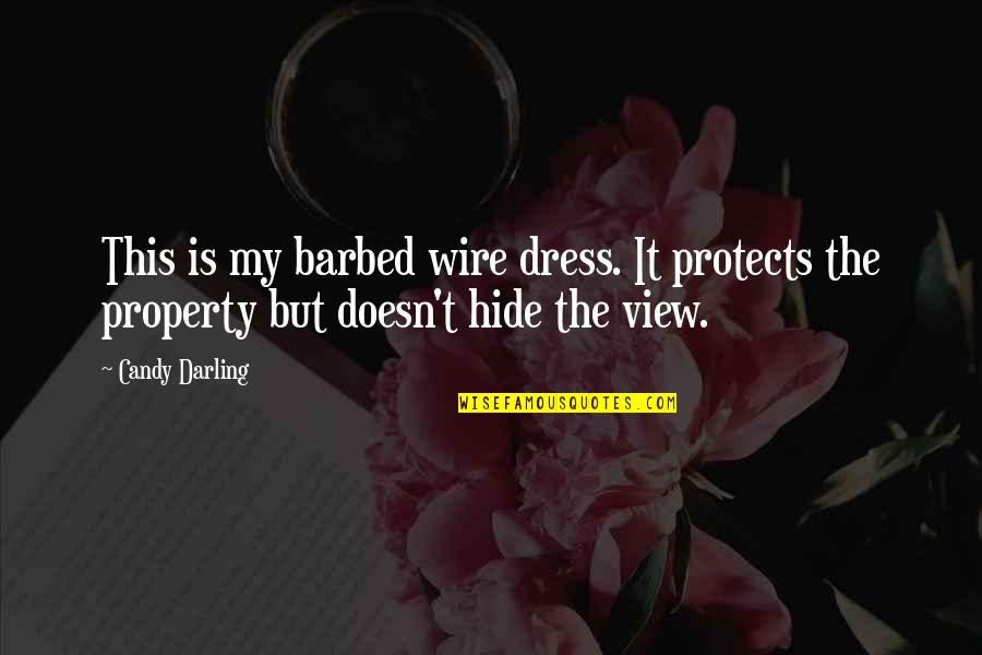 Barbed Wire Quotes By Candy Darling: This is my barbed wire dress. It protects