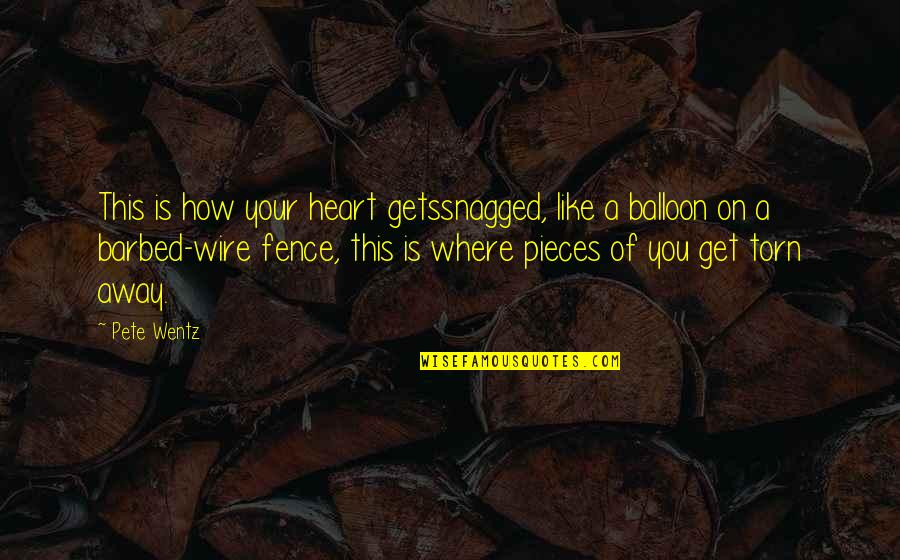 Barbed Wire Quotes By Pete Wentz: This is how your heart getssnagged, like a