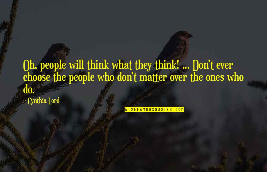 Barge Freight Quotes By Cynthia Lord: Oh, people will think what they think! ...