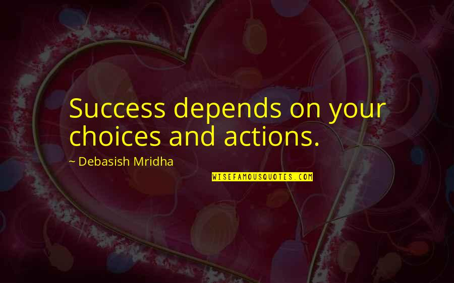Barge Freight Quotes By Debasish Mridha: Success depends on your choices and actions.