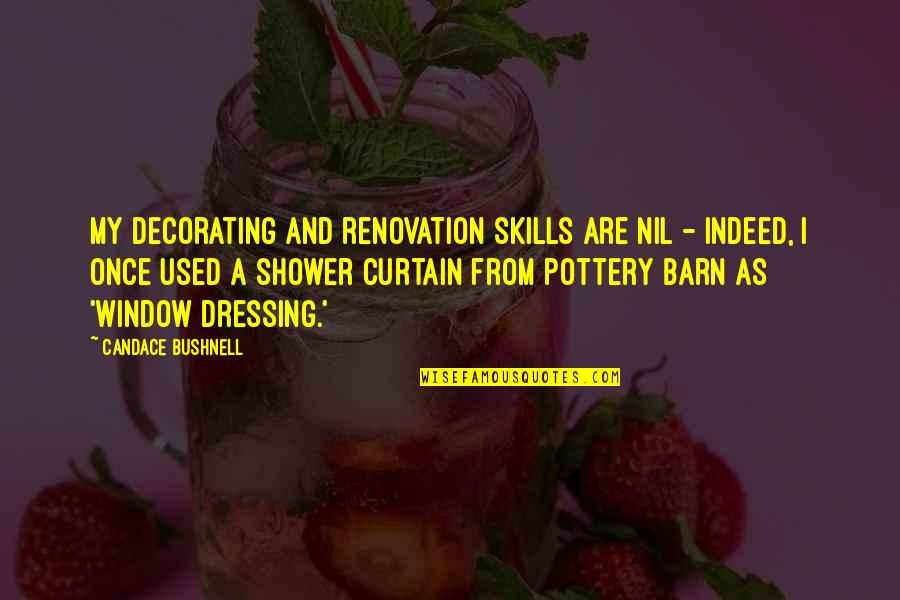 Barn Quotes By Candace Bushnell: My decorating and renovation skills are nil -
