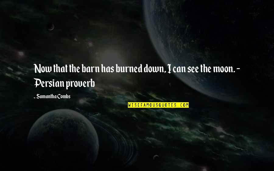 Barn Quotes By Samantha Combs: Now that the barn has burned down, I