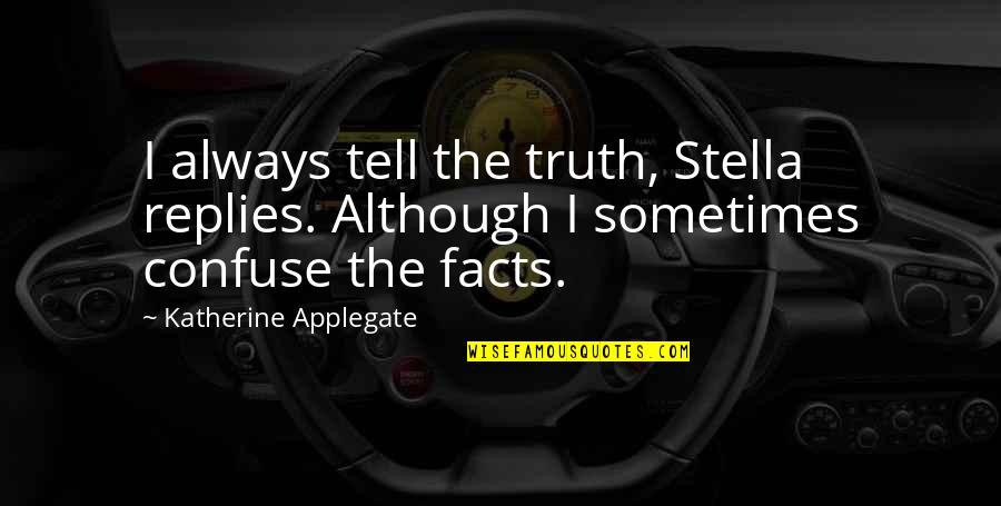Bartolome Esteban Murillo Quotes By Katherine Applegate: I always tell the truth, Stella replies. Although