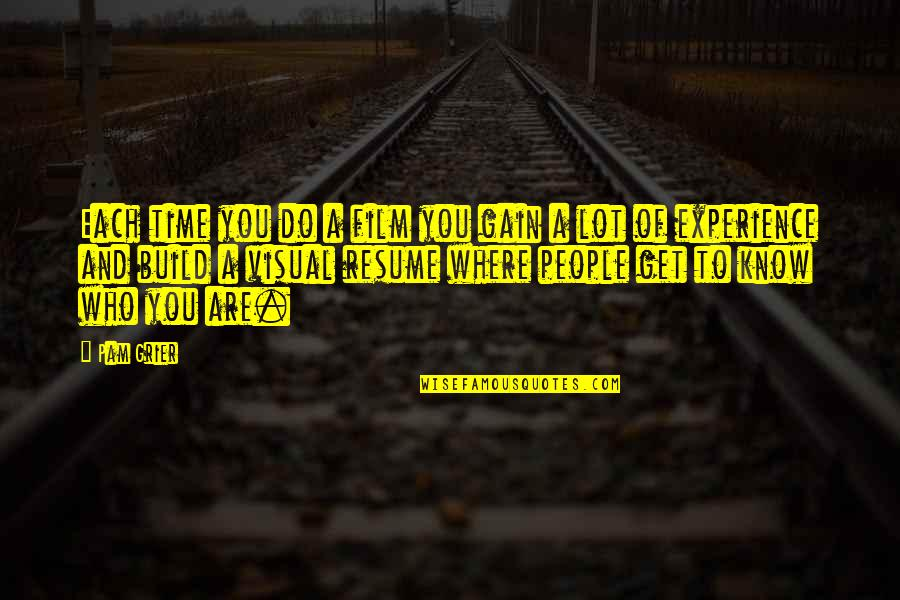 Baseball Diamond Quotes By Pam Grier: Each time you do a film you gain