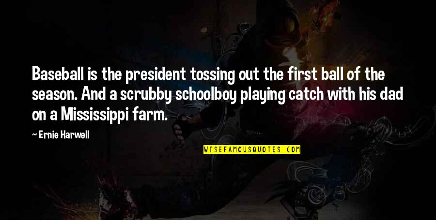 Baseball Season Quotes By Ernie Harwell: Baseball is the president tossing out the first