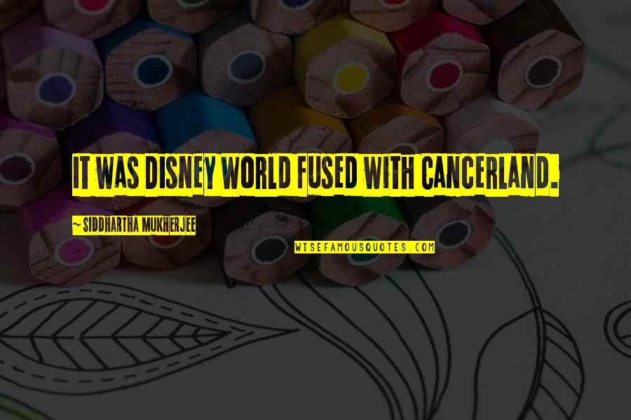 Baseball Trades Quotes By Siddhartha Mukherjee: It was Disney World fused with Cancerland.