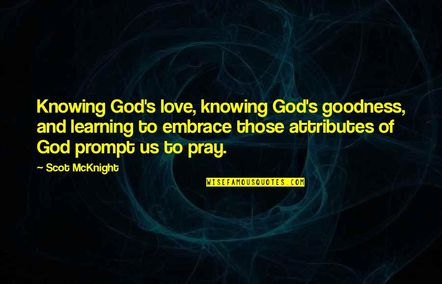 Bash Script Preserve Quotes By Scot McKnight: Knowing God's love, knowing God's goodness, and learning