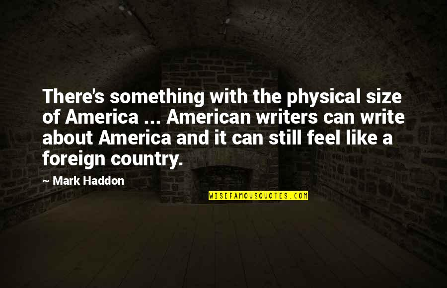 Basilides Quotes By Mark Haddon: There's something with the physical size of America