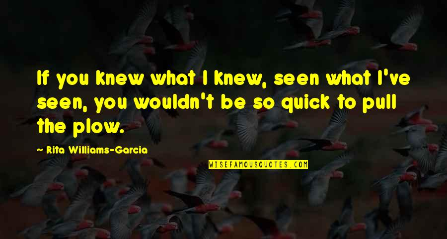 Basilio Quotes By Rita Williams-Garcia: If you knew what I knew, seen what