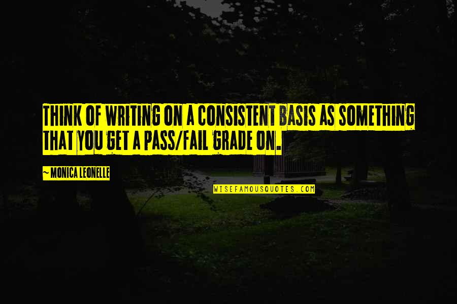 Basis Quotes By Monica Leonelle: Think of writing on a consistent basis as