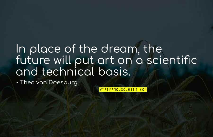 Basis Quotes By Theo Van Doesburg: In place of the dream, the future will