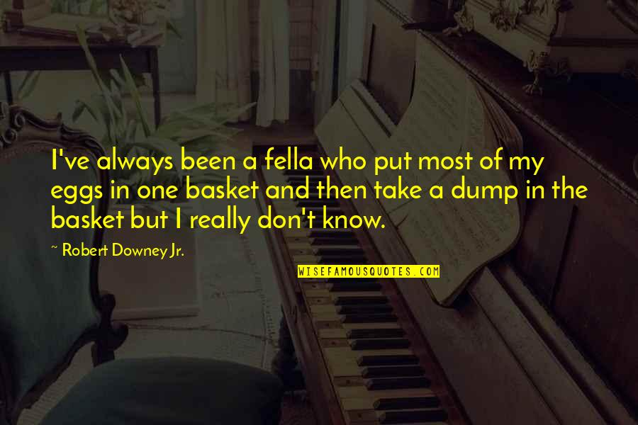 Basket Quotes By Robert Downey Jr.: I've always been a fella who put most