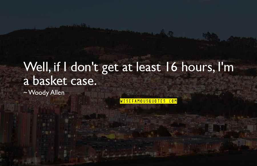 Basket Quotes By Woody Allen: Well, if I don't get at least 16