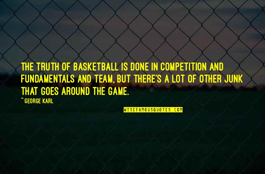 Basketball Game Quotes By George Karl: The truth of basketball is done in competition