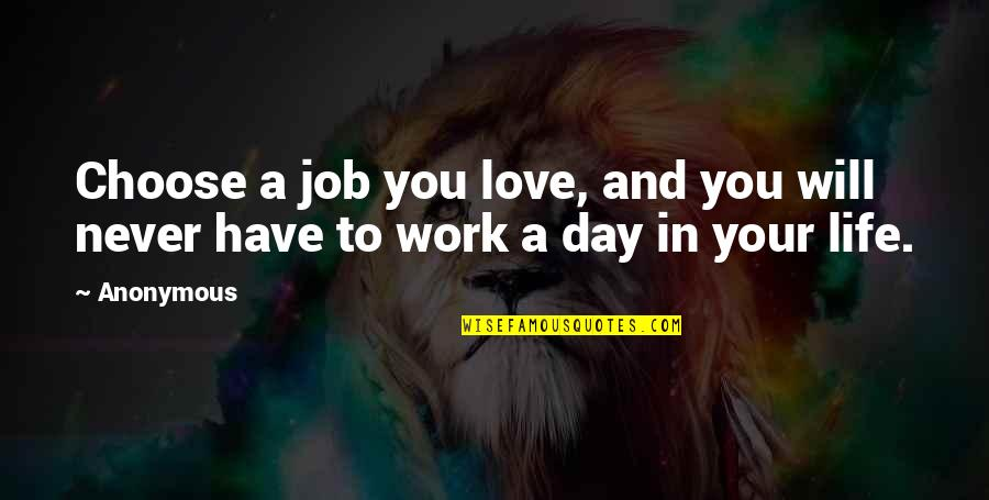 Bathymaasy Quotes By Anonymous: Choose a job you love, and you will