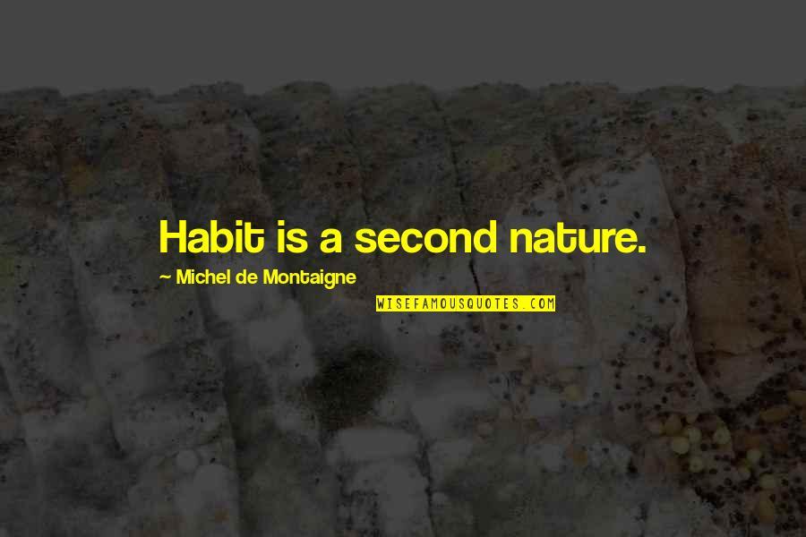 Batman Arkham Origins Death Quotes By Michel De Montaigne: Habit is a second nature.