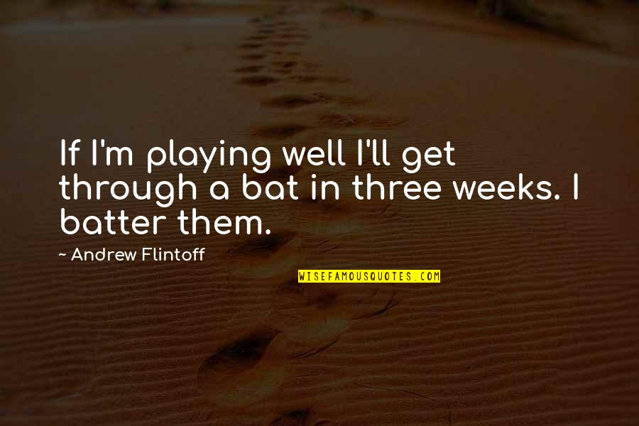 Batter'd Quotes By Andrew Flintoff: If I'm playing well I'll get through a