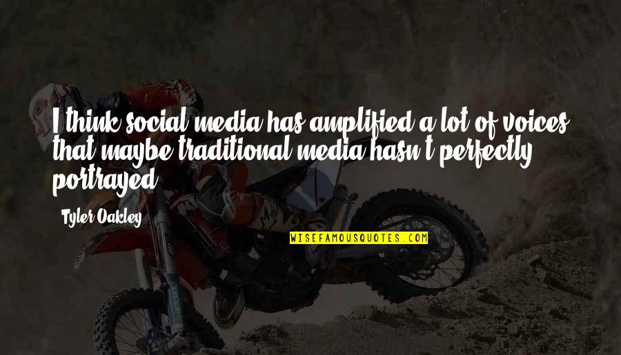 Bazine Quotes By Tyler Oakley: I think social media has amplified a lot