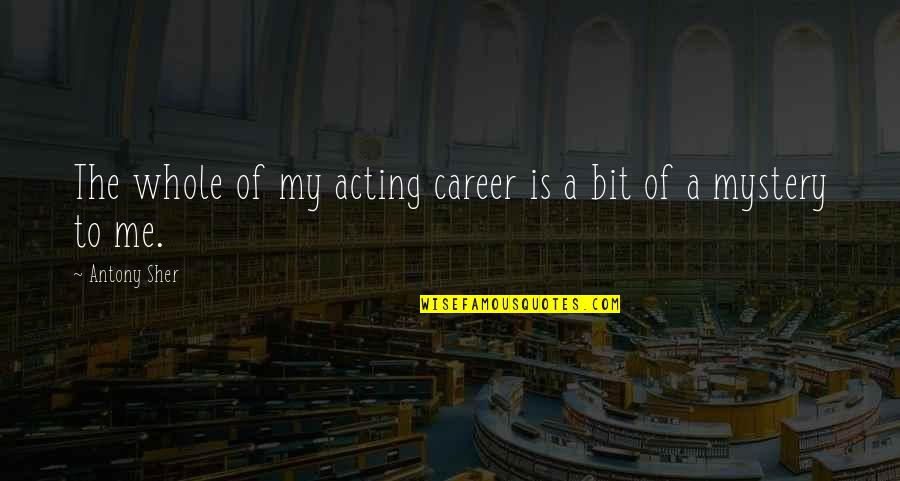 Bb King Love Quotes By Antony Sher: The whole of my acting career is a