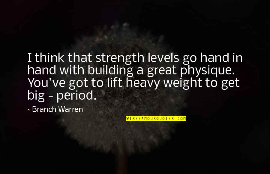 Bcbsil Get Quotes By Branch Warren: I think that strength levels go hand in