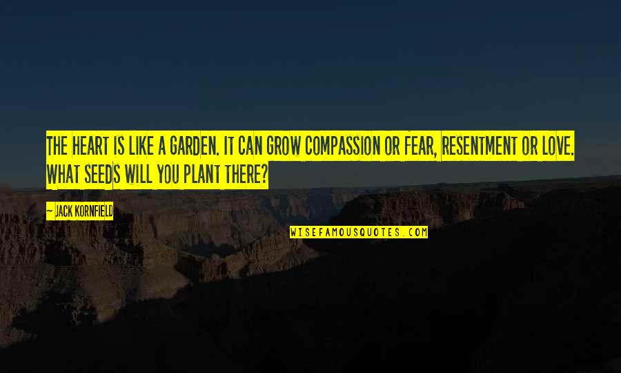 Bcbsil Get Quotes By Jack Kornfield: The heart is like a garden. It can
