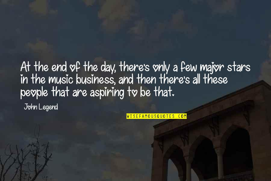 Be A Legend Quotes By John Legend: At the end of the day, there's only
